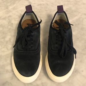 Eytys Shoes - Eytys mother suede black platform sneakers 38